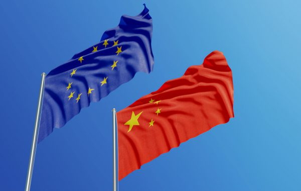 Europe China Flags